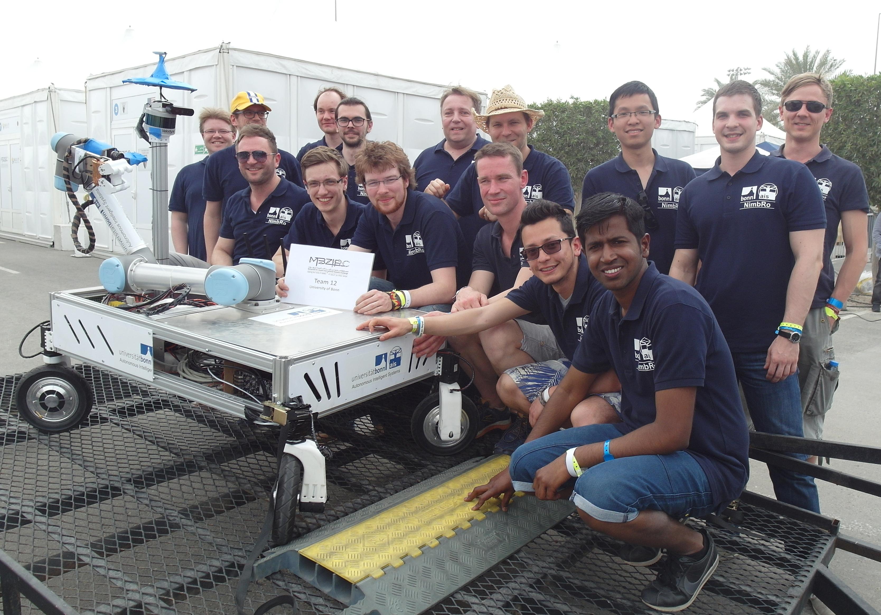 Team NimBro wins Mohamed Bin Zayed International Robotics Challenge 2017