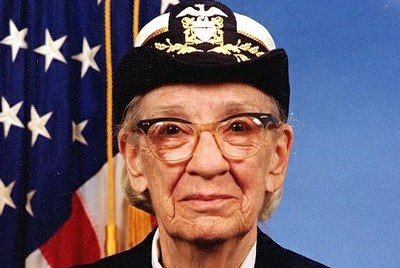James S. Davis, Grace Hopper, marked as public domain, details on Wikimedia Commons.