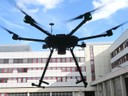 Flying robot with 3D laser scanner