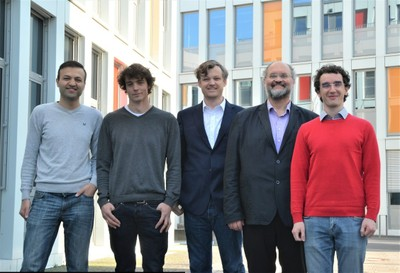 "Qais Kasem, Konrad Blaszkiewicz, Alexander Markowetz, Prof. Dr. Andreas Weber, Ionut ""Johnny"" Andone (from left to right)"